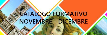 CATALOGO FORMATIVO NOVEMBRE – DICEMBRE 2016