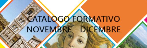 AGGIORNAMENTO CATALOGO FORMATIVO NOVEMBRE – DICEMBRE